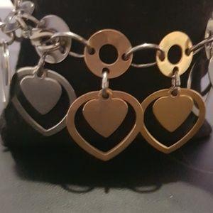 Heart Charm Dangle Bracelet